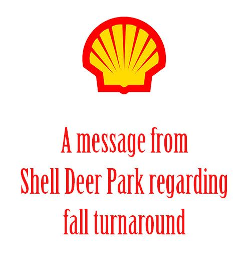 Shell Deer Park - Fall turnaround information