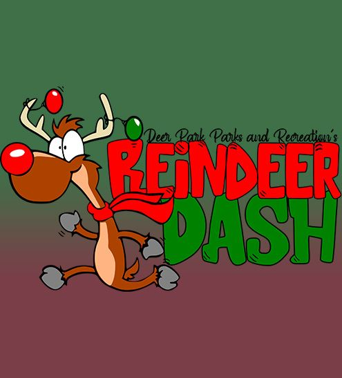 Decorative - text reads &#34reindeer dash&#34